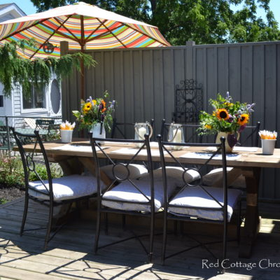 No-Sew Patio Chair Cushion Covers