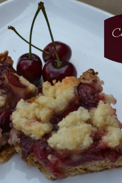 Cherry Crumble Bars