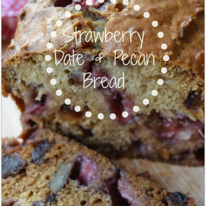 Strawberry, date and pecan loaf