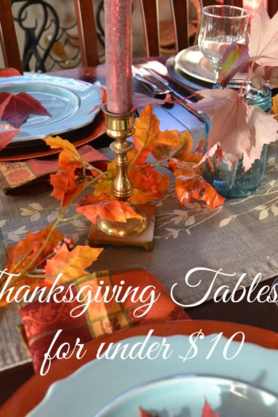 Thanksgiving Tablescape Under $10