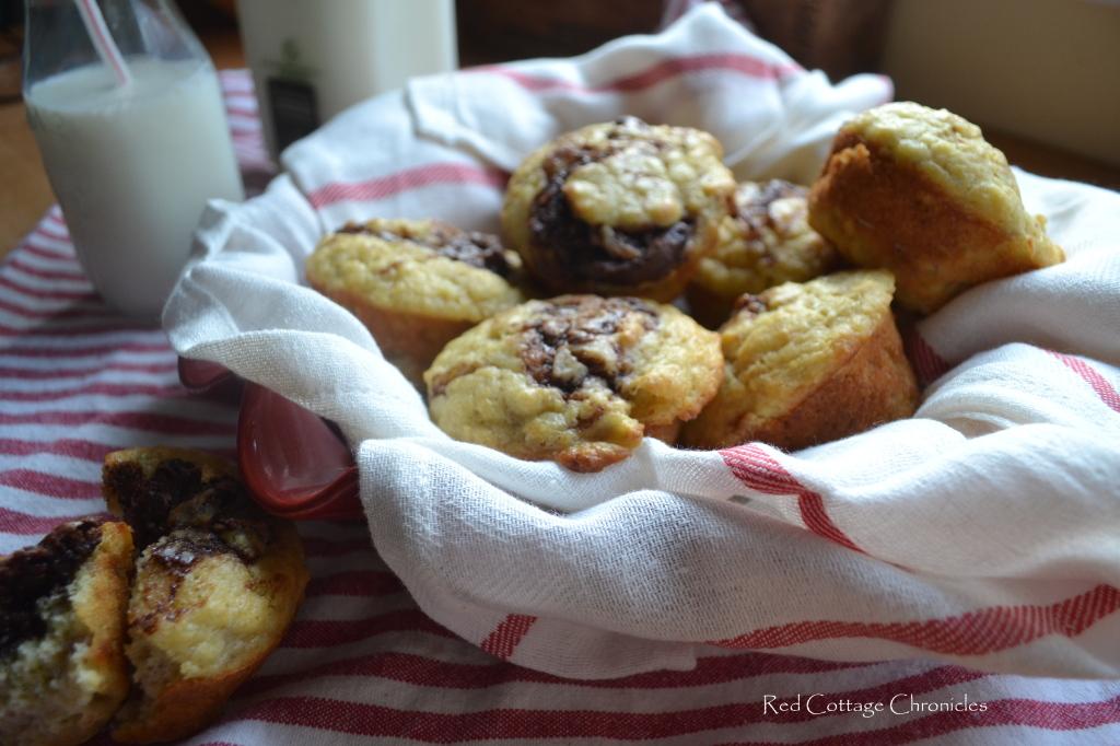 Chocolate Hazelnut & Banana Muffins