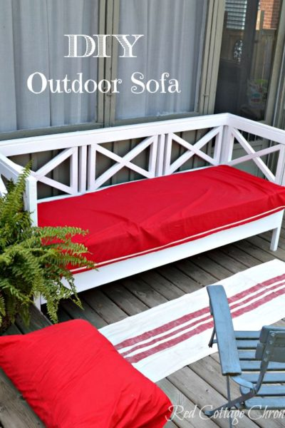 DIY outdoor furniture