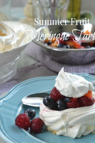 Fresh Fruit Meringue Tart