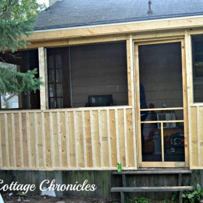 Screen Porch Progress