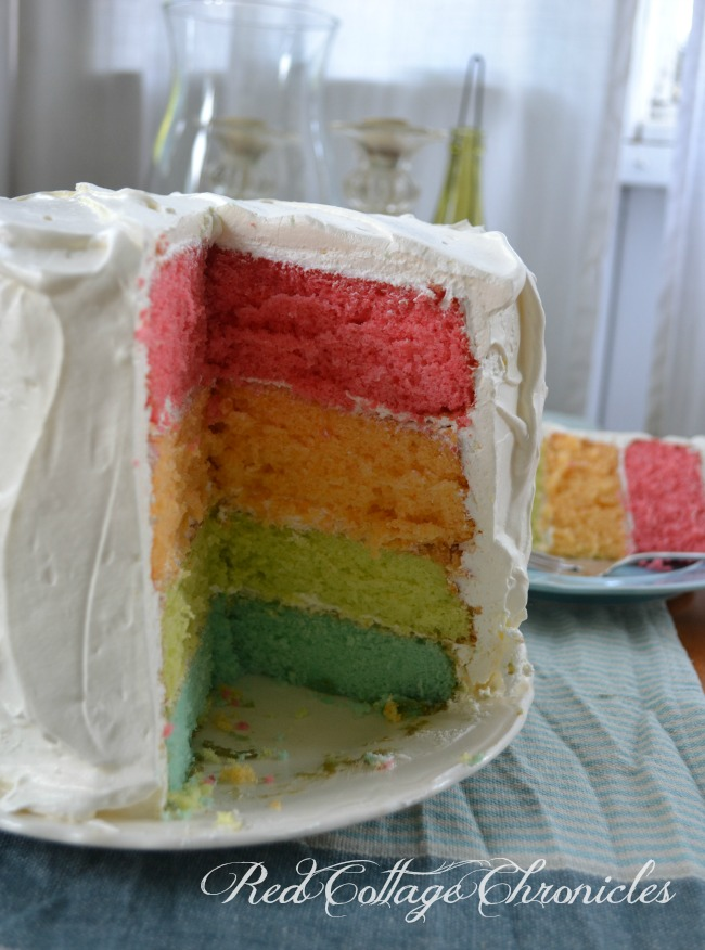 Rainbow Jello Cake