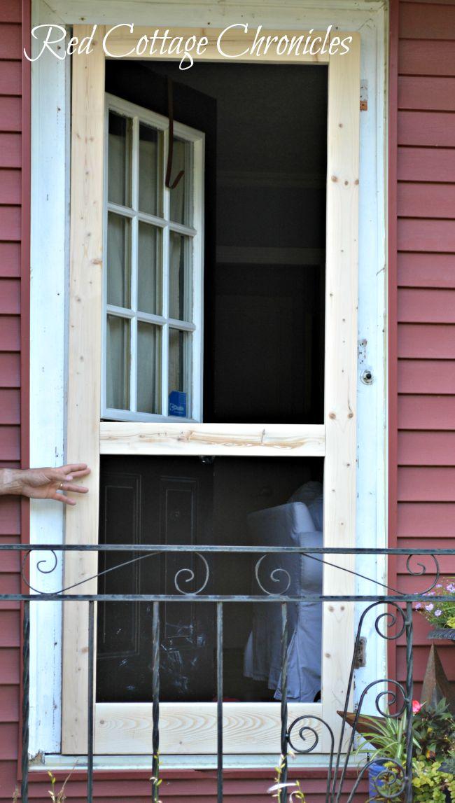 Diy Wood Screen Door Tutorial Red Cottage Chronicles