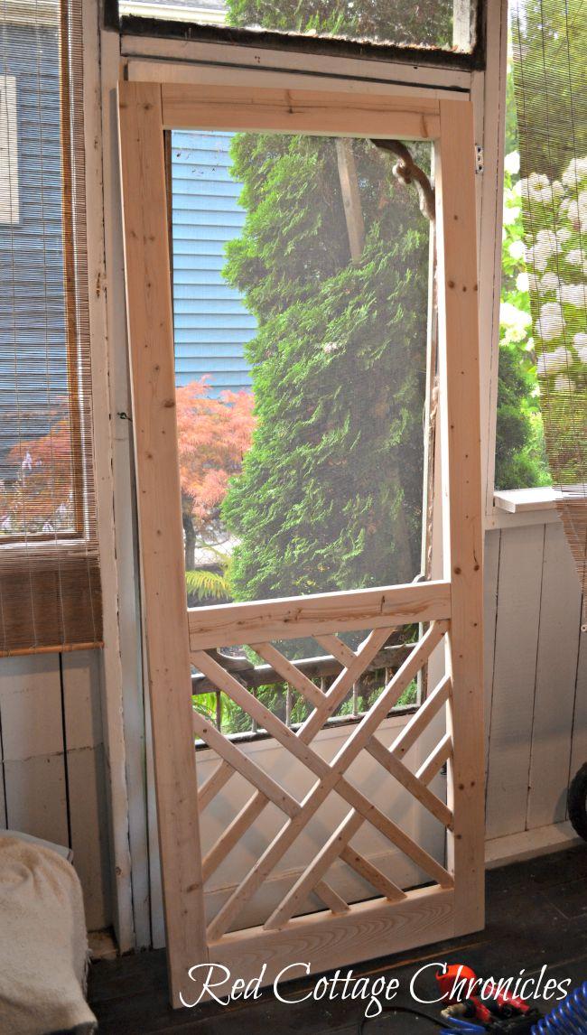 DIY Wood Screen Door Tutorial - Red Cottage Chronicles