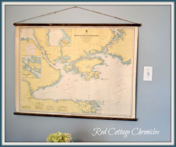 Vintage classroom map