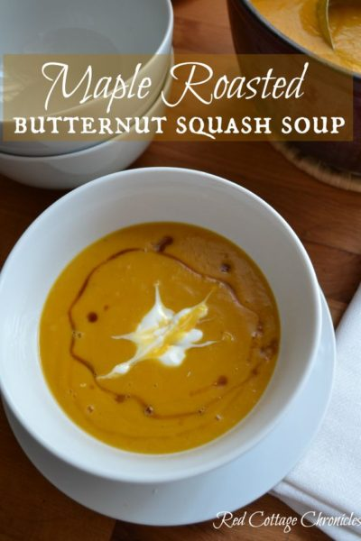 Maple Roasted Butternut Squash Soup