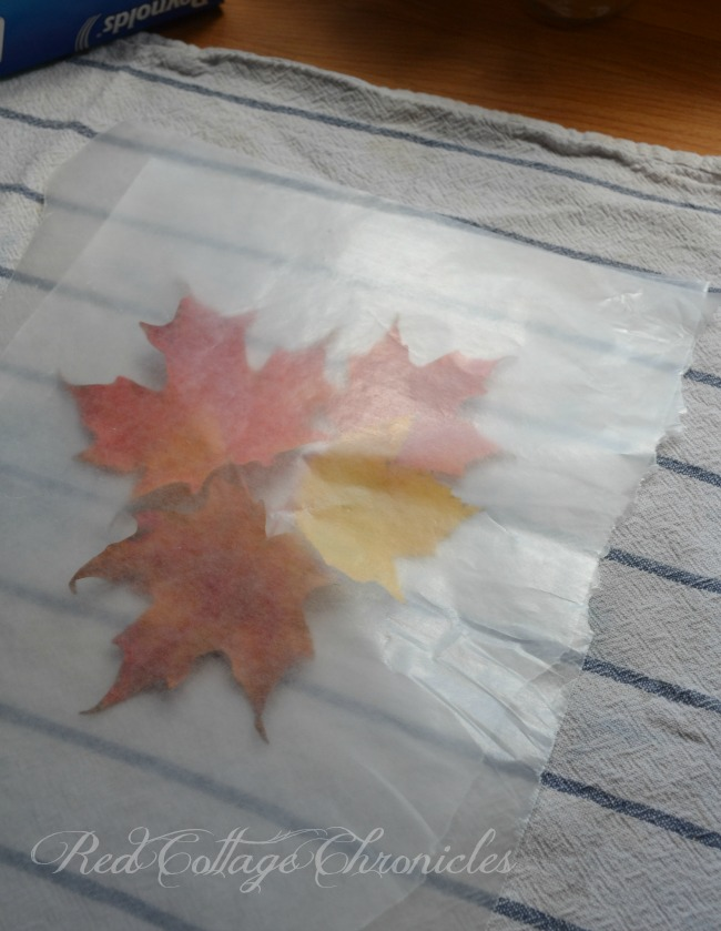 Wax paper crafts