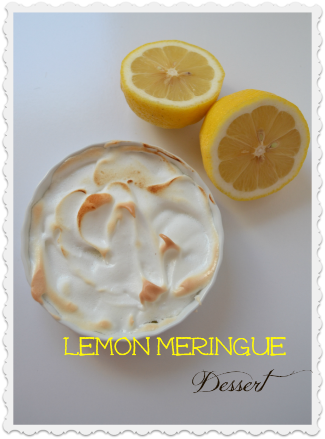 Crustless lemon meringue pie