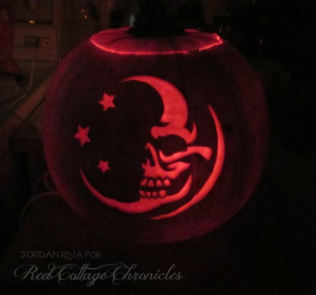 Man in the Moon Carved Pumpkin