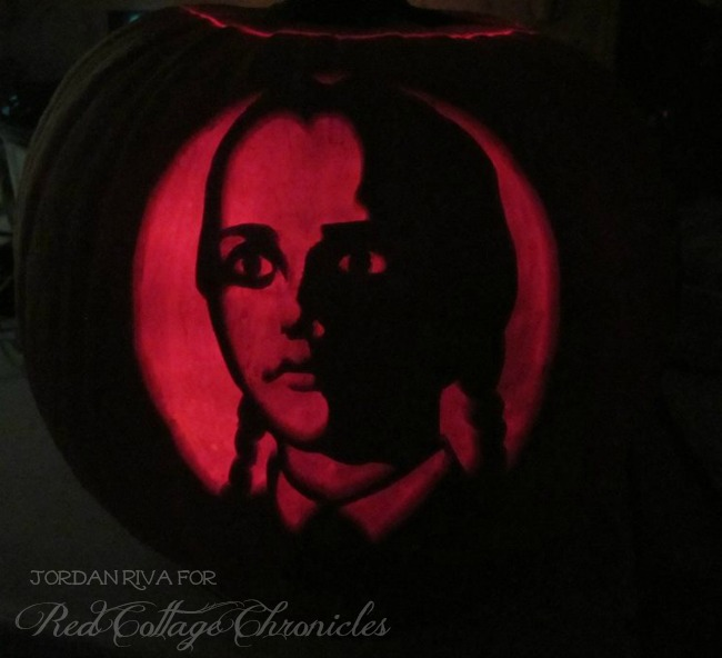 Amazing Halloween Pumpkin - Wednesday Adams