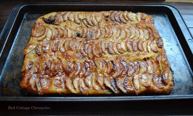 Light layers of pastry make the perfect crust for a sweet caramelized apple topping