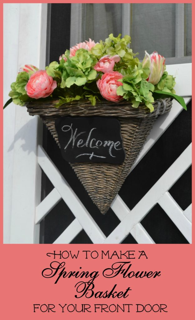 How to make a spring flower basket for your front door