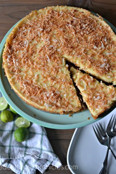 Key Lime and Coconut Tart