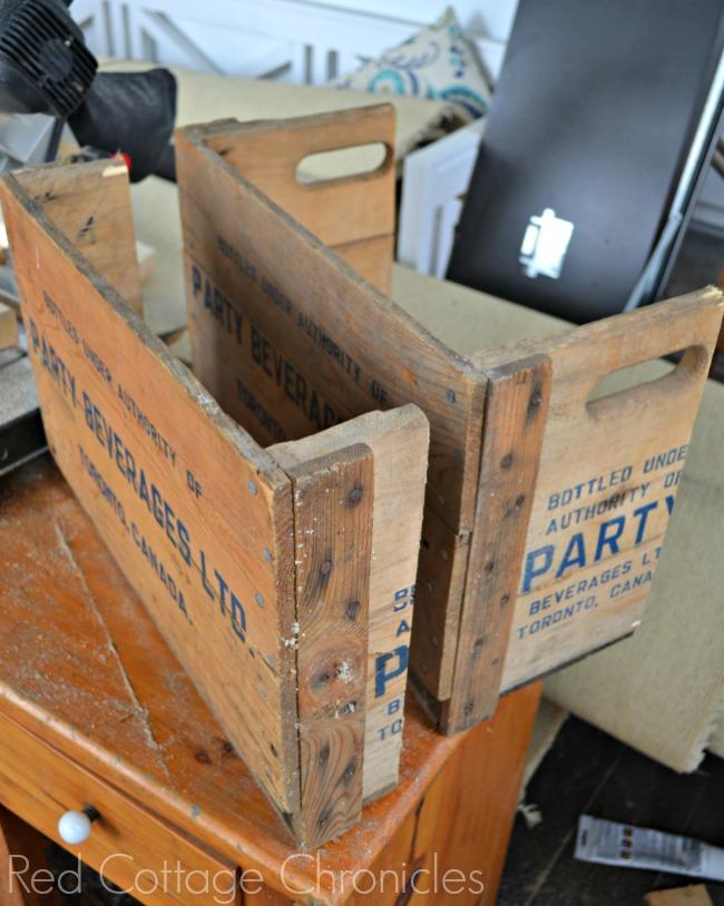 Vintage Soda Crate turned Magazine Rack