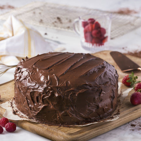 Vegan Chocolate Cake made with Almond Breeze