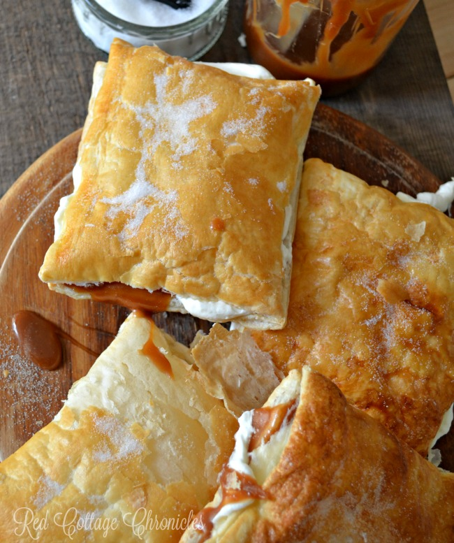 Windsor Salt elevates the flavour of this decadent salted caramel puff pastry