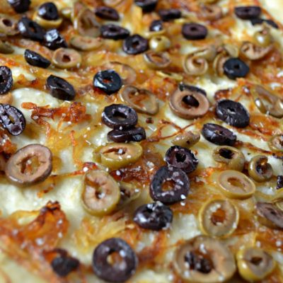 Caramelized Onion & Olive Focaccia Bread