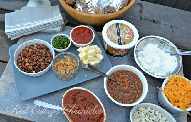 Why not create a self serve baked potato bar at your next get together!
