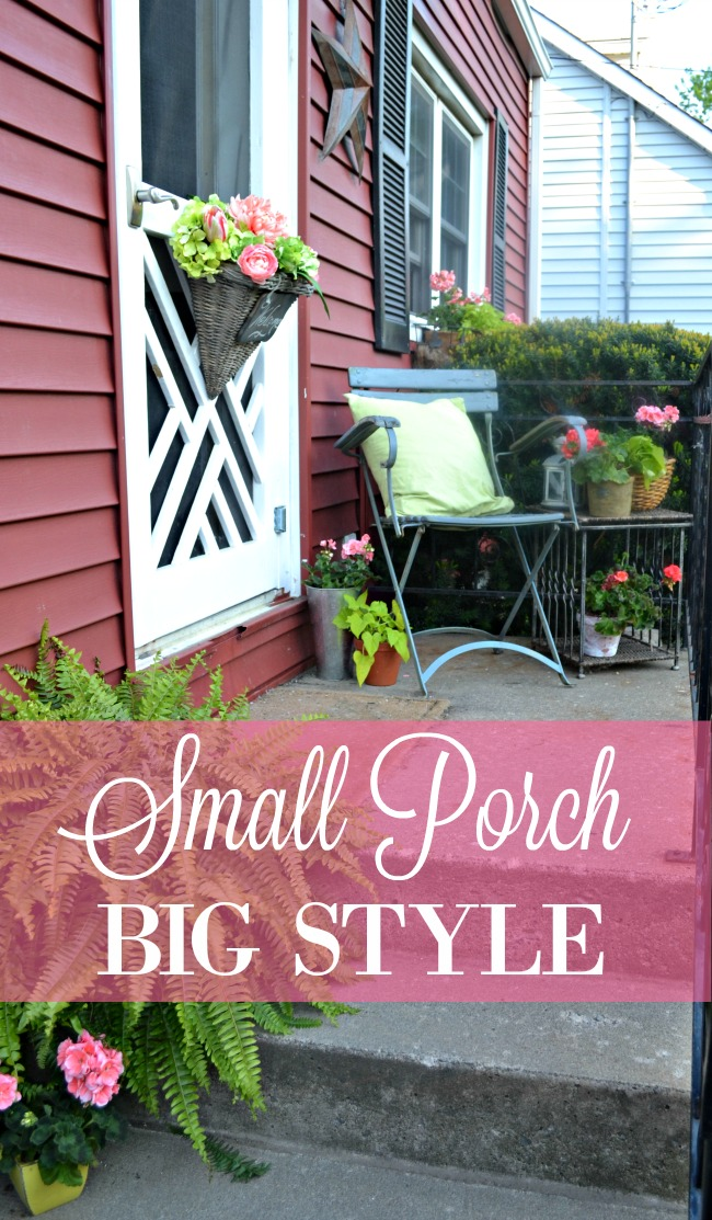 Decorating a small porch for summer