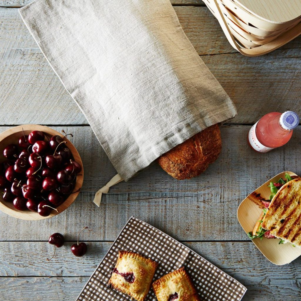 French Country Style Linen Bread Bags