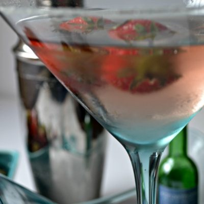 Strawberry Ice Wine Martini