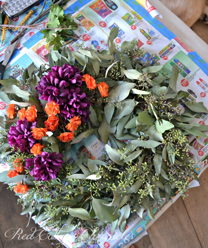 seeded eucalyptus autumn wreath