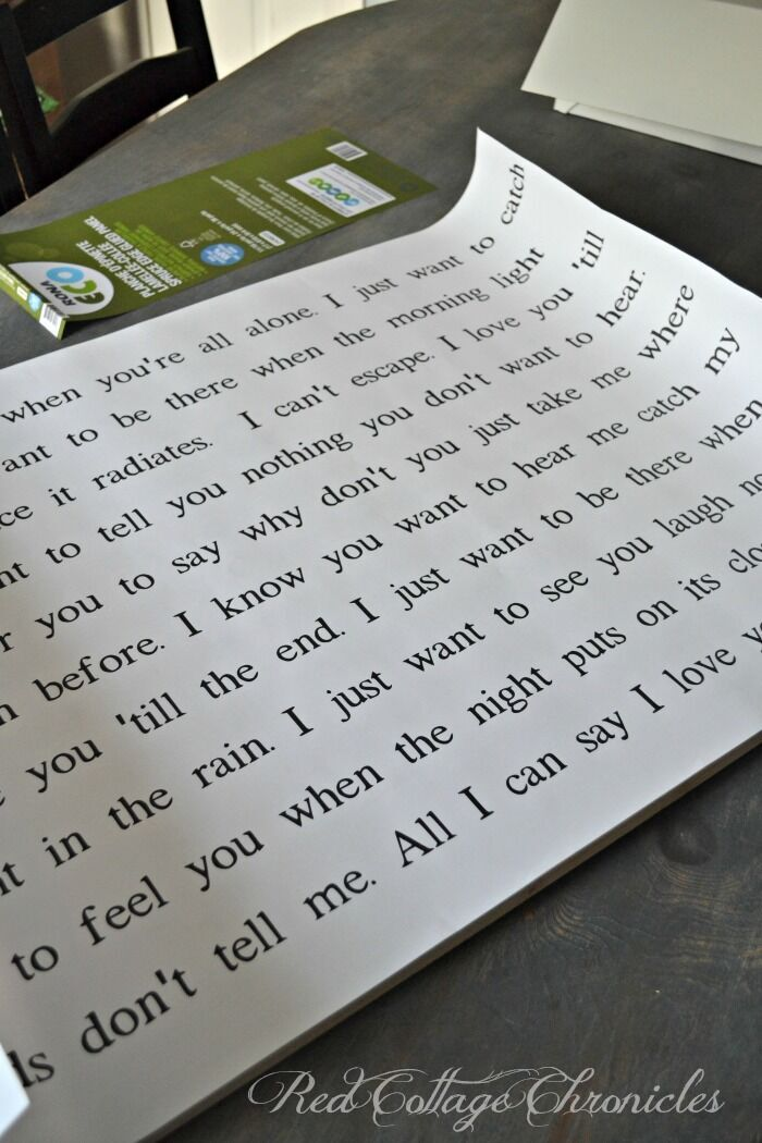 easy diy song lyrics sign