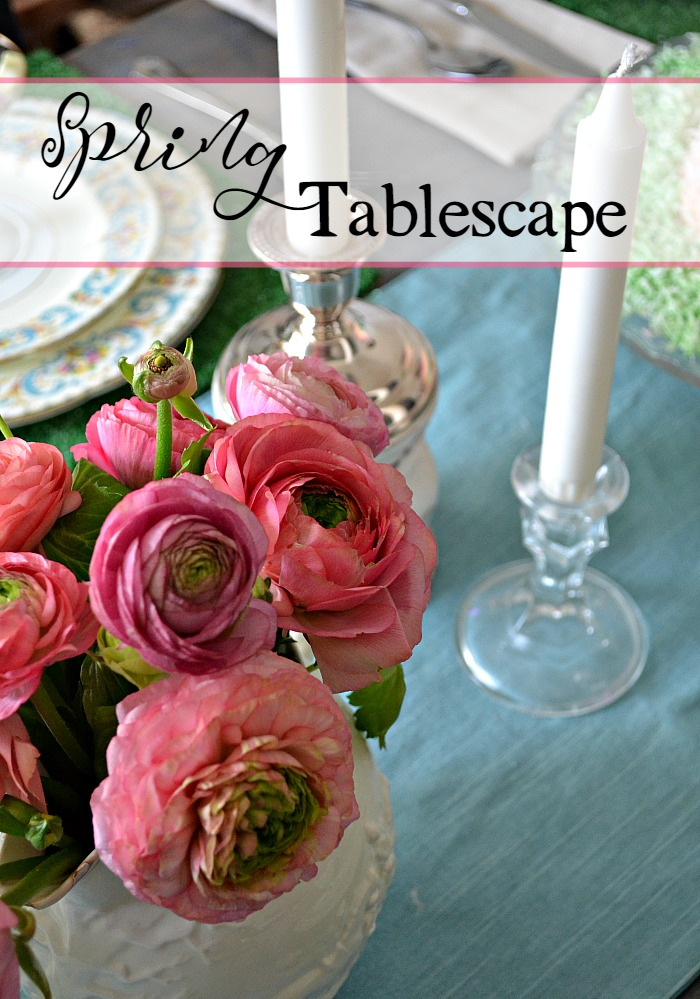 Spring Table Setting Red Cottage Chronicles