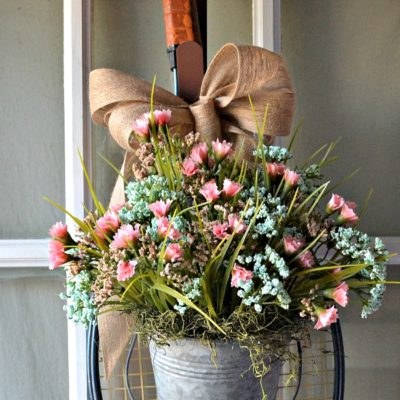 Thrift Store Upcycle Spring Wreath Project
