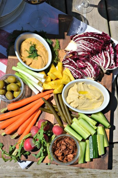 healthy veggie board