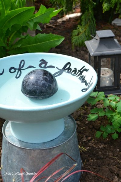 Once a Fruit Bowl, Now A Bird Bath