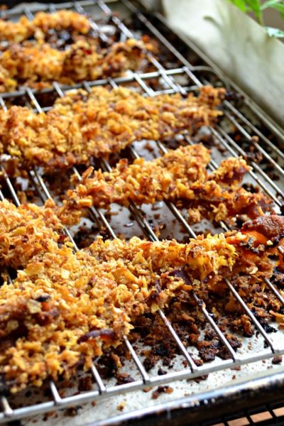 Looking for Brunch Recipes? Look no further than this delicious Corn Flake Crusted Bacon