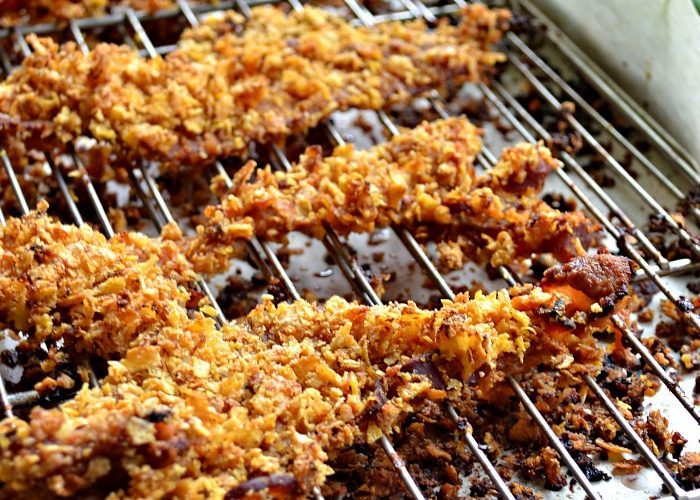 Corn Flake Crusted Bacon