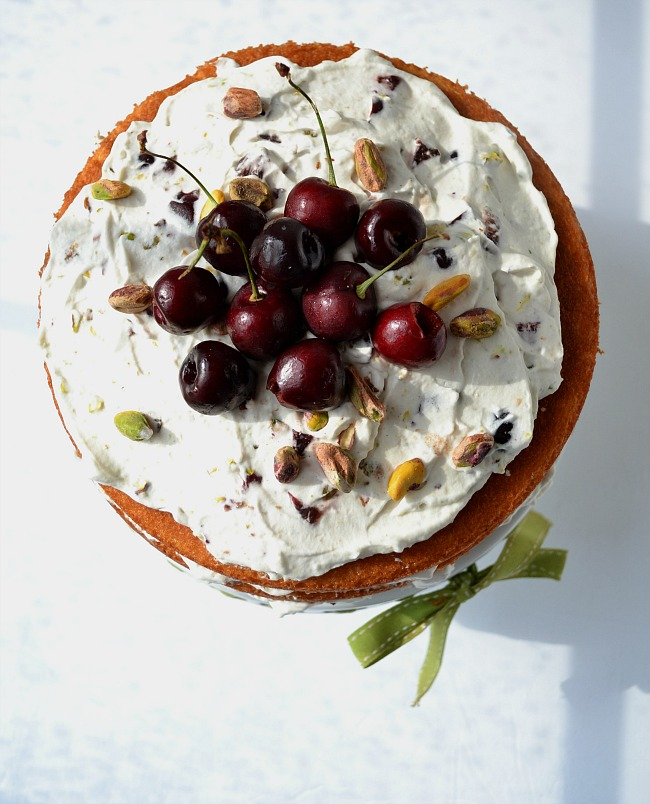 This easy Cherry Pistachio Naked Cake is a keeper!
