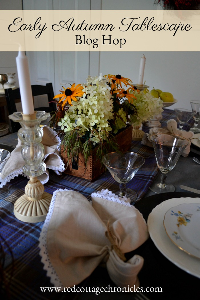 Fall is finally here! I am celebrating with some blogger friends with an early autumn tablescape blog hop!