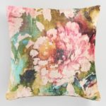 Columbus Day Sales 2017 Floral Velvet Throw Pillow