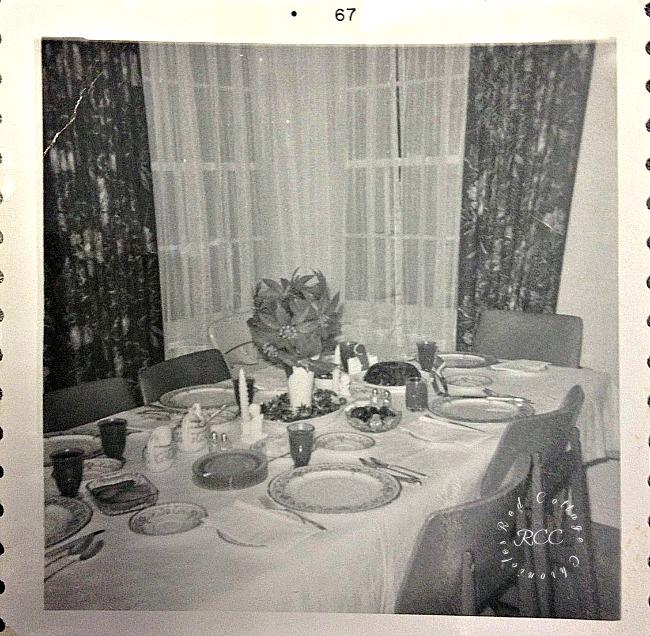 Christmas traditions - Christmas Dinner Circa 1967