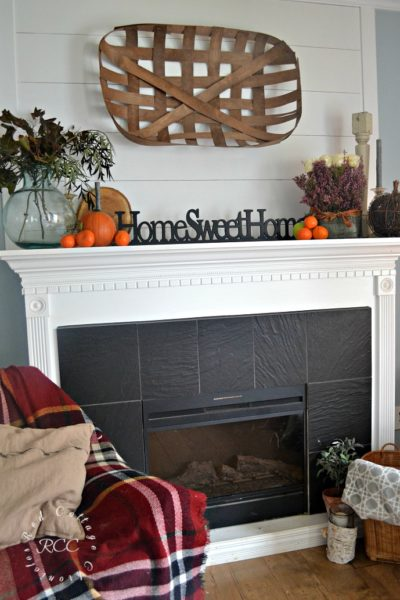 Fruit & Flowers Autumn Mantel