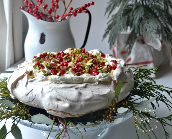 Christmas Movie Blog Hop - White Chocolate Pistachio Pavlova