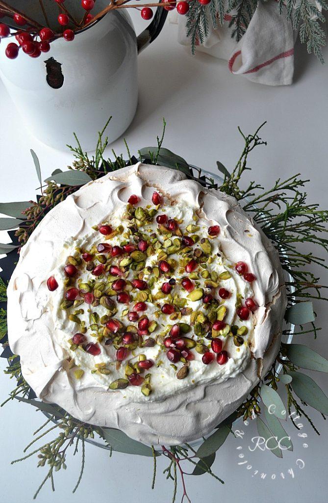 Christmas Move Blog Hop - White Chocolate Pistachio Pavlova
