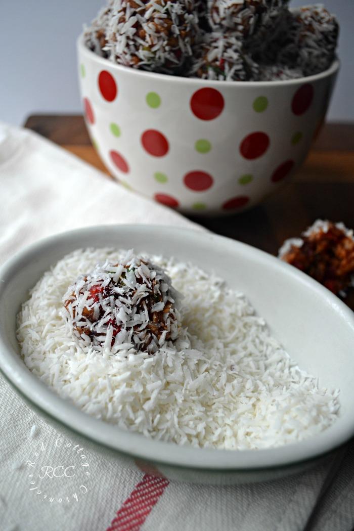 Cherry Coconut Snowballs