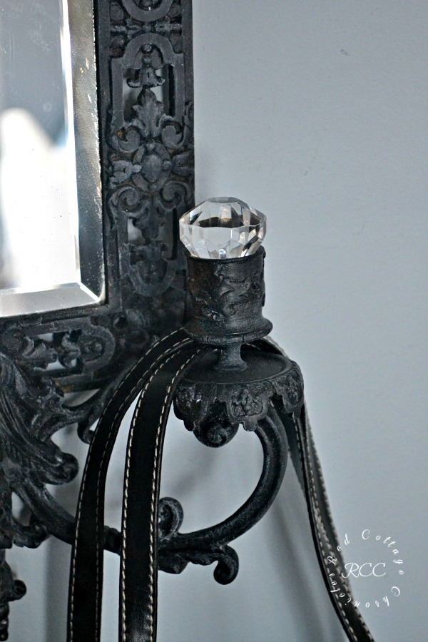Thrift Store Upcycle Candle Wall Sconce