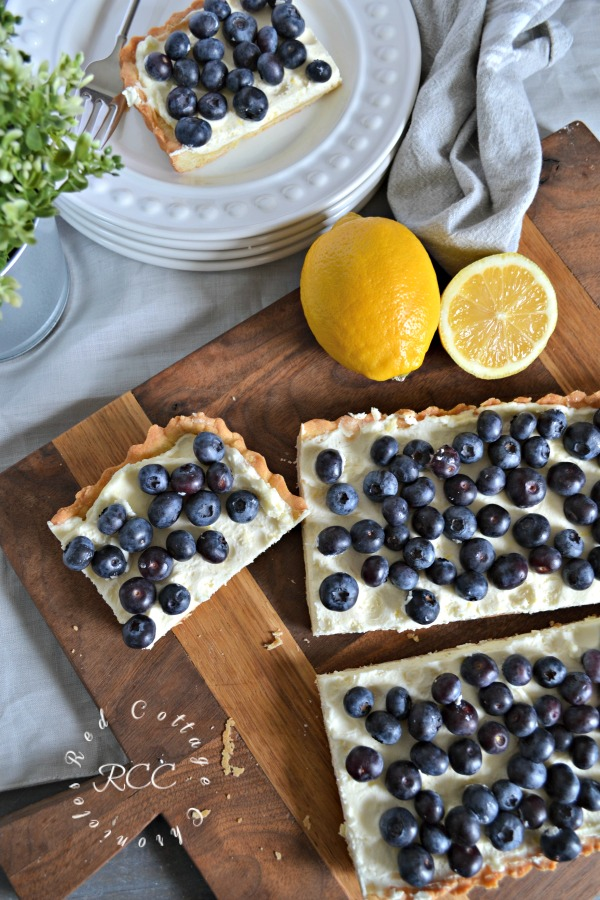 A review of one of Joanna Gaines Recipes - Blueberry Mascarpone Tart