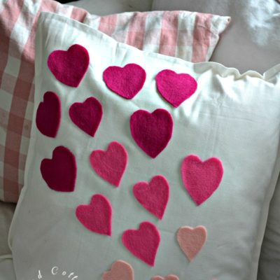 Easy No Sew Valentine Pillow Cover