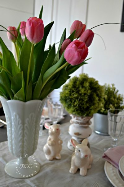 easy spring table decor