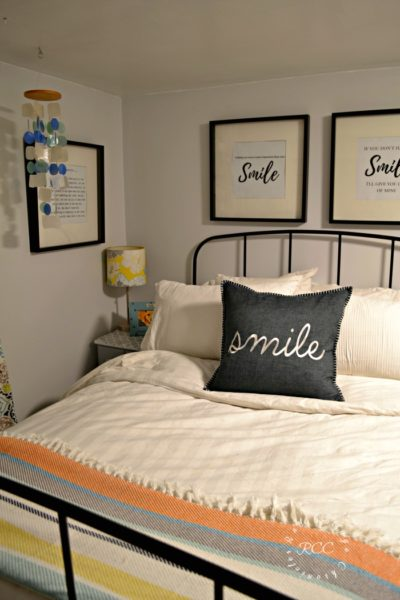 One Room Challenge Basement Bedroom Reveal