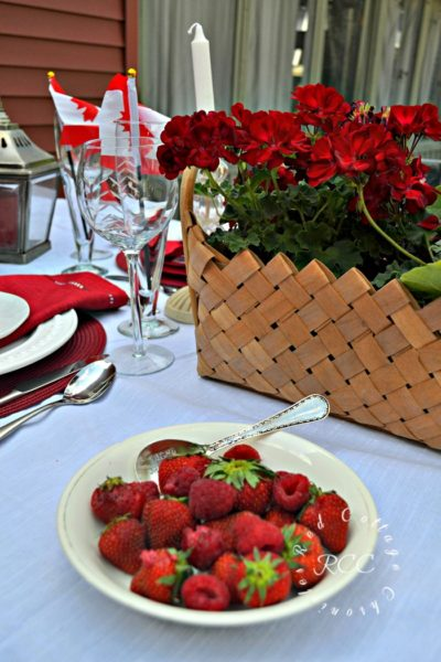 Red, White (& Blue) Tablescape Blog Hop